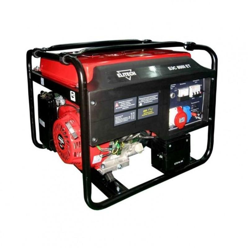 Генератор (электростанции) Elitech БЭС 8000 Е (6 кВт)
